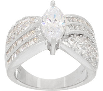 TOVA® Diamonique® Marquise Band Ring