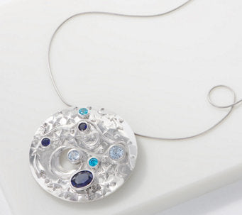 TOVA® Diamonique® Galaxy Pin Pendant Necklace