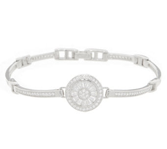 TOVA® Diamonique® Center Station Bracelet