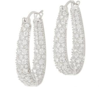 TOVA®Diamonique® Inside-Out Oval Hoop Earrings