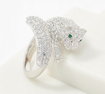 TOVA®Diamonique®Pave Panther Wrap-Around Ring