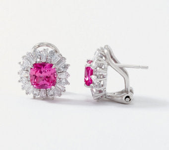 TOVA®Diamonique®Simulated Pink Topaz Earrings