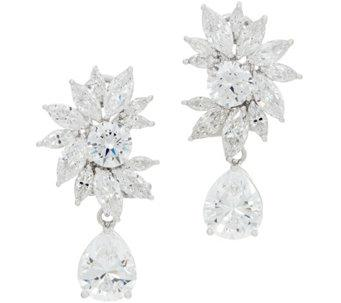TOVA® Diamonique® Statement Drop Earrings