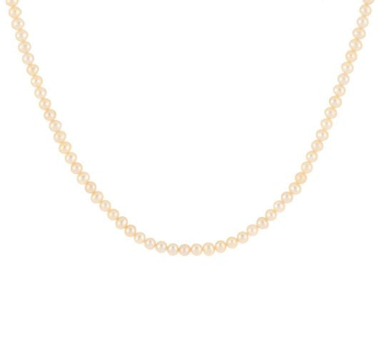 TOVA Cultured Freshwater Pearl Necklace, Sterling