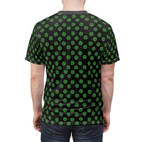 Black Four Leaf Clover T-Shirt
