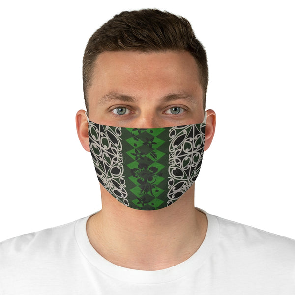 Pounamu Hibiscus Fabric Face Mask