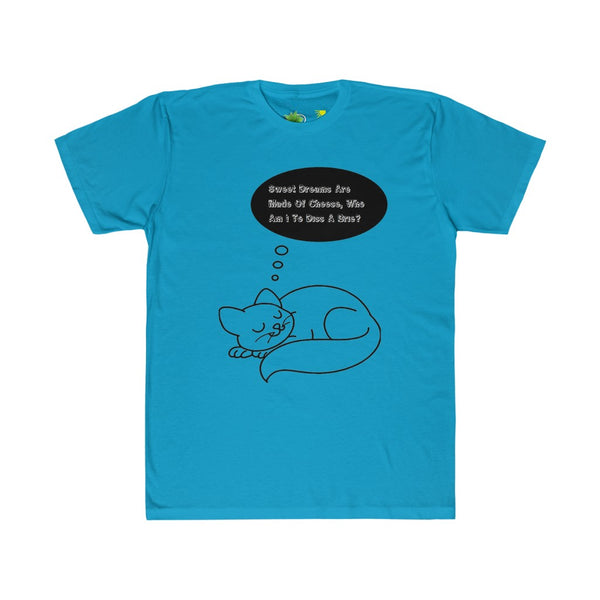 Cat & Dog Dreaming Sweet Dreams Are Made Of Cheese, Who Am I To Diss A Brie? T-Shirt