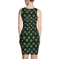 Black Four Leaf Clover Dress