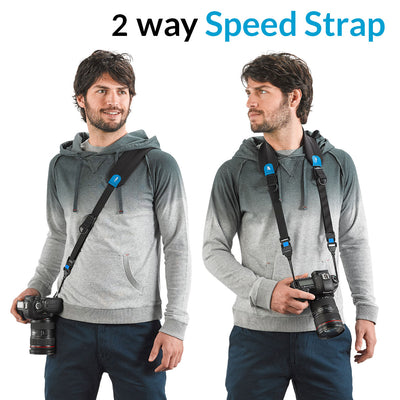 Two carrying modes – sling and classic – in one strap.