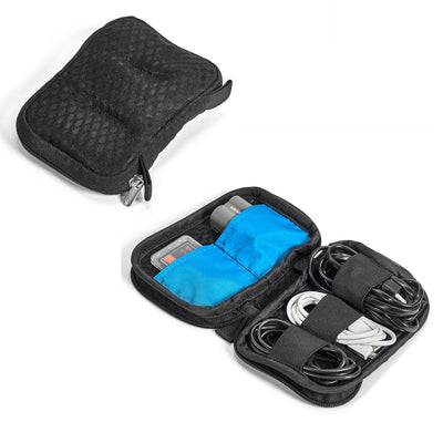 Utility Pouch for memory cards, spare battery and cables