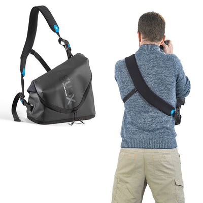 Comfortably carry the bag on your chest in any weather