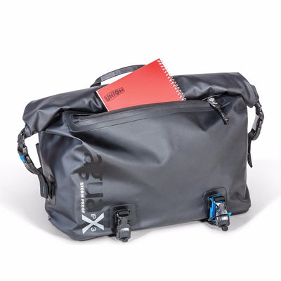 IPX3 protected front pocket