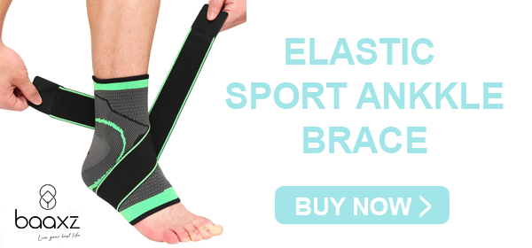 Elastic Ankle Brace Wrap for running, arthritis, sprains, strains and injury