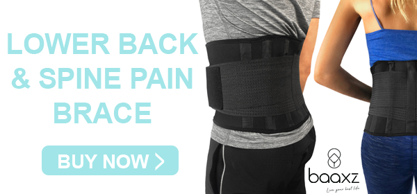Neoprene adjustable decompression back brace to alleviate lower back pain