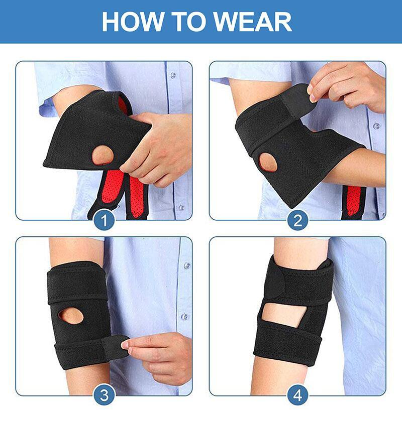 Adjustable Tennis Elbow Brace Compression Sleeve for Tendonitis - BAAXZ
