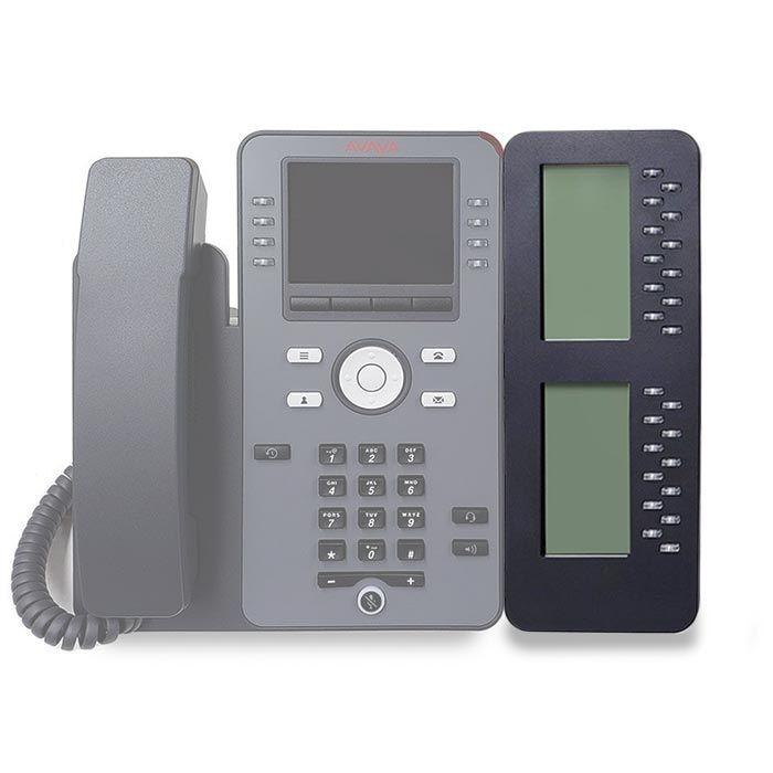 Avaya-JBM24-Button-Module-700513570-attached-to-phone