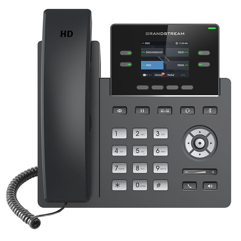 grandstream grp2612 ip phone front view