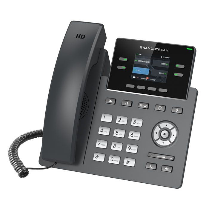 grandstream grp2612 ip phone tilted left
