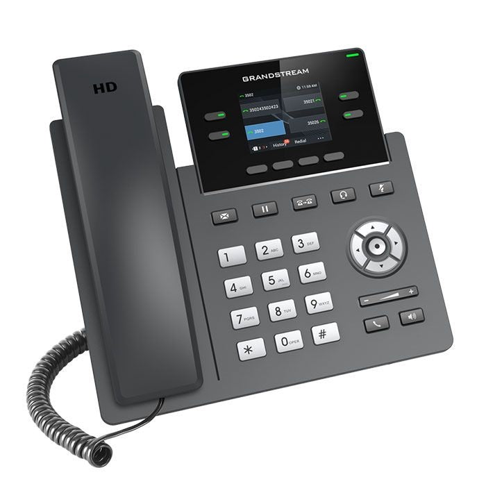 grandstream grp2612 ip phone tilted right