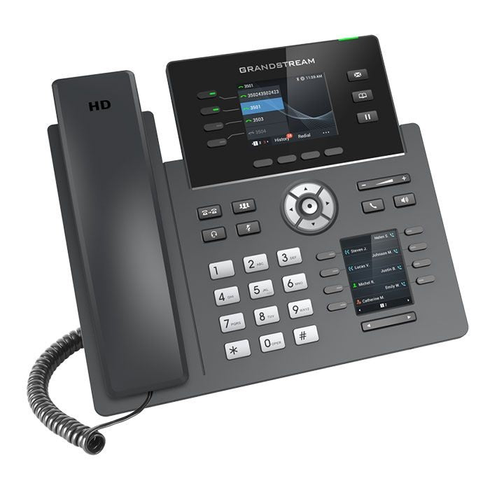 grandstream grp2614 ip phone tilted right