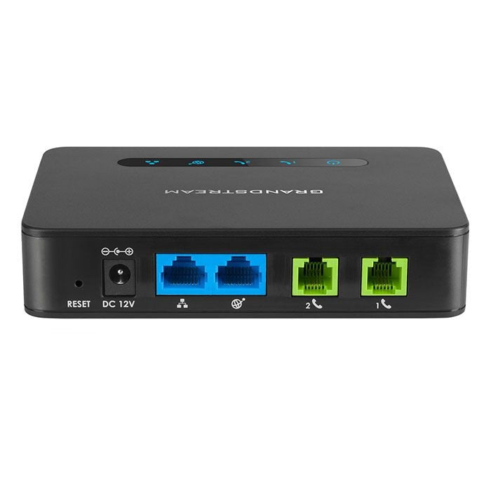 Grandstream HT812 2-Port FXS with NAT Router Analog Telephone Adapter (ATA)
