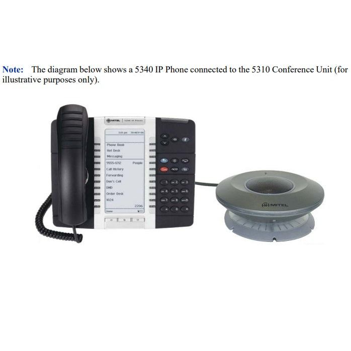 mitel-5310-ip-conference-unit-50004459-connected-to-5340