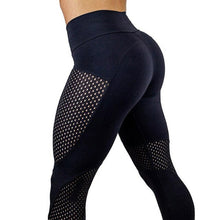 Load image into Gallery viewer, Mesh Splice Tights Women High Waist Elastic Gym Leggings Fitness Training Sports Yoga Pants Breathable Slim Energy Sport Wear