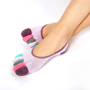 NEW Stylish Women Separated Toes Ankle Yoga Socks Gym Dance Sport Exercise Five Fingers Socks Non Slip Socks