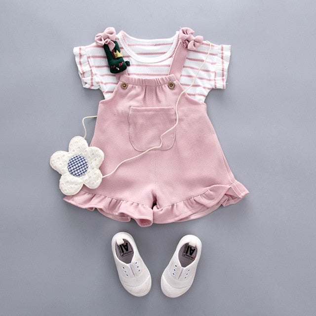 Infant Baby Girl Baby Summer Clothing Striped