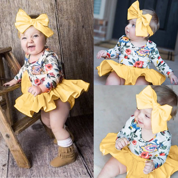 Infant Baby Girl Summer Outfit