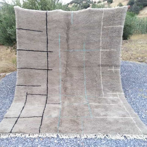 Beni Ourain Rug - Brown Abstrat
