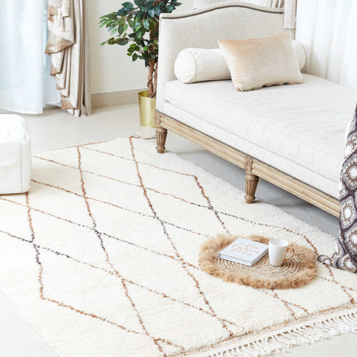 Beni Ourain Rug - Cream Brown
