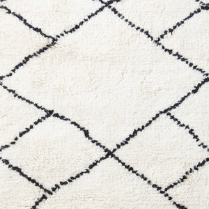 Beni Ourain Rug - Big and small Diamond Shapes