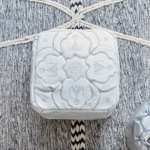 Load image into Gallery viewer, Moroccan Leather Square Pouf White- Berber