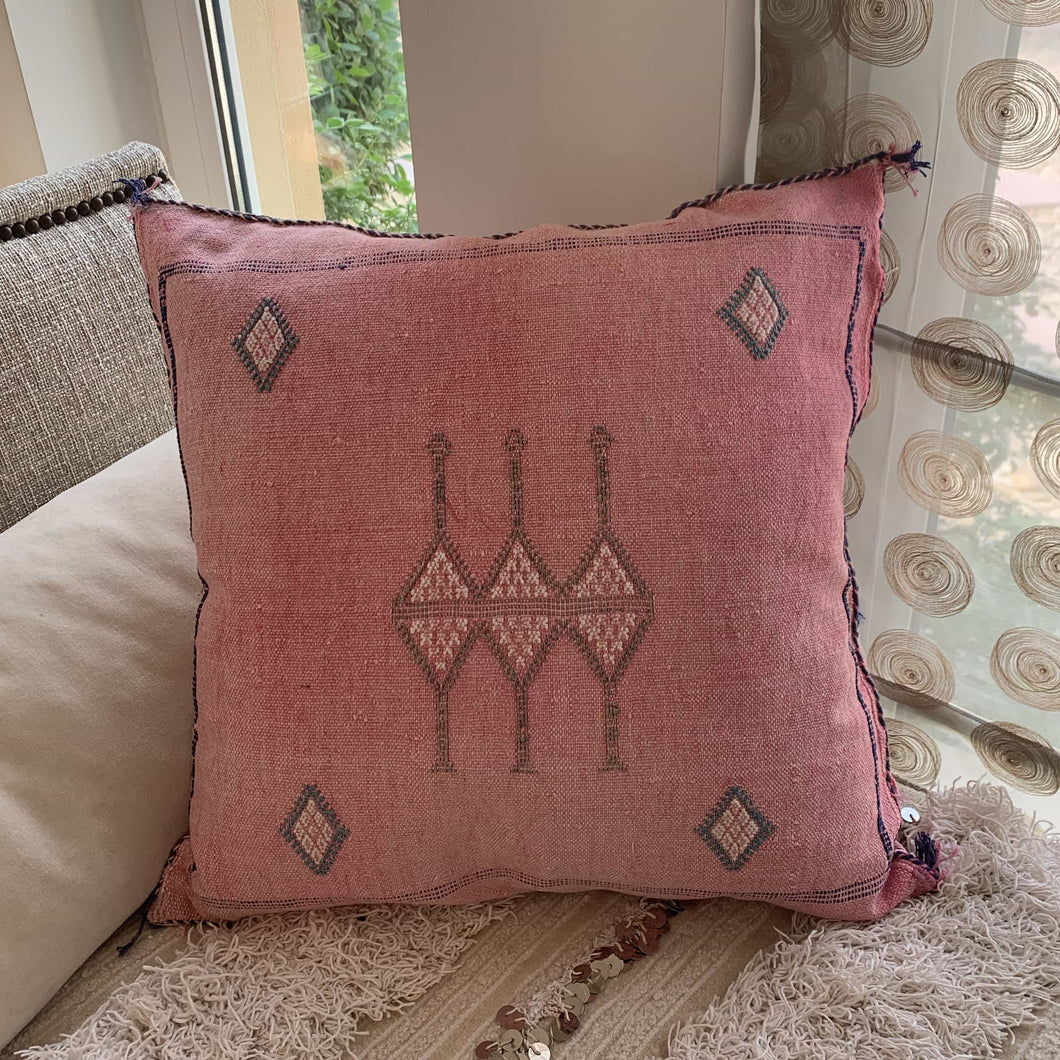 Cactus Silk Cushion Cover - Washed pink