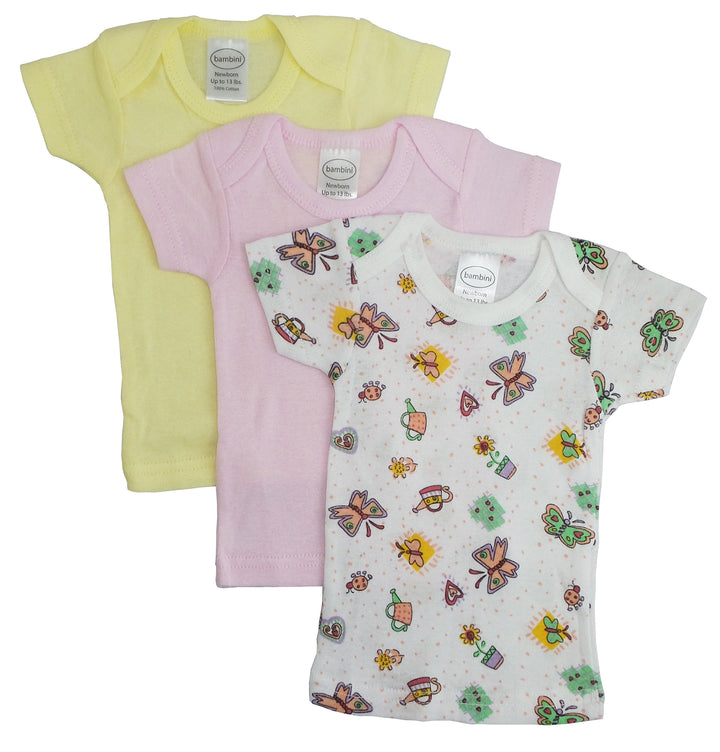 Girls Printed Short Sleeve Variety Pack
