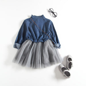 Baby Girls Denim Long Dress
