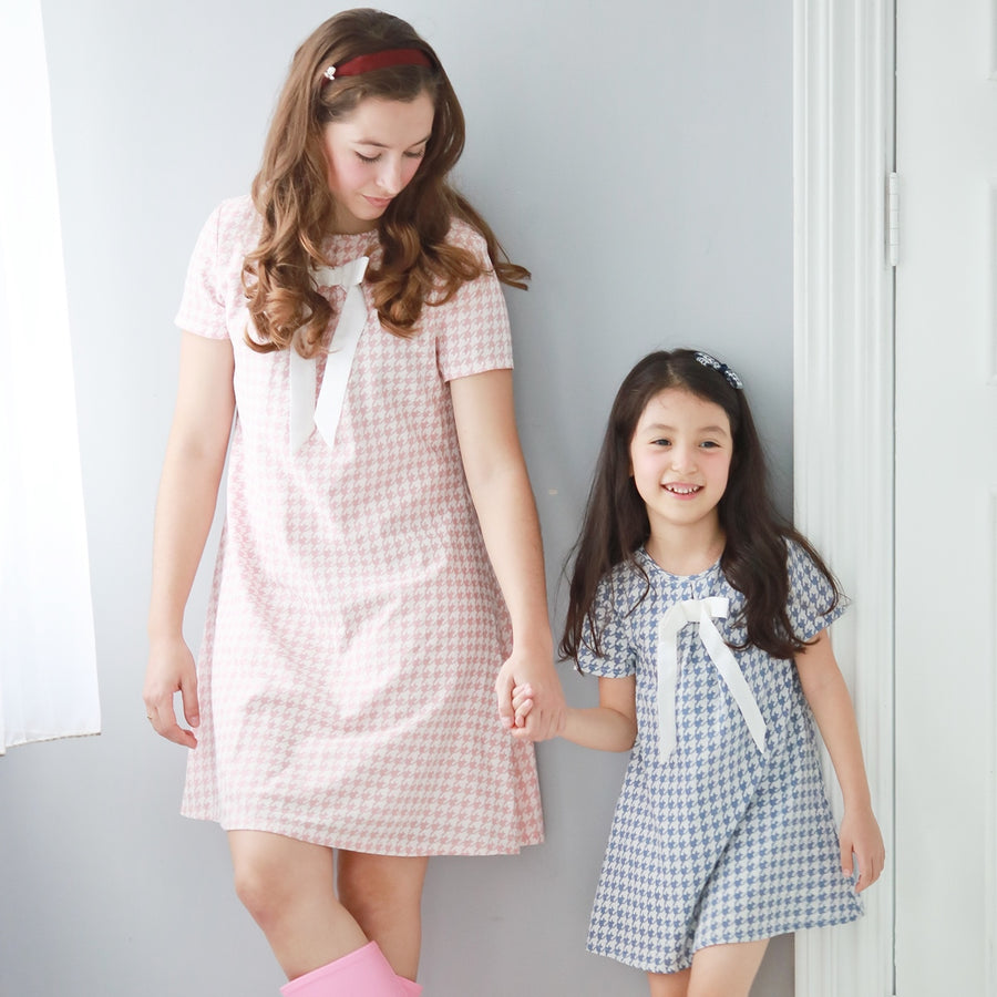 Mother & Daughter Matching Dress: Houndstooth