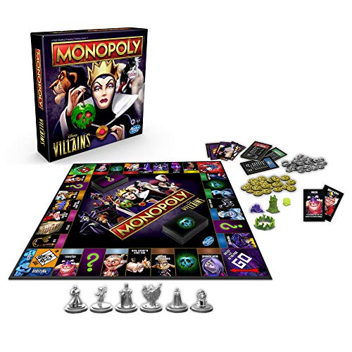 Hasbro Gaming Monopoly: Disney Villains Edition Board Game for Kids Ages 8 and Up, Play as a Classic Disney Villain