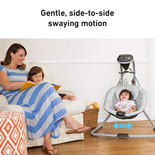 Graco Simple Sway Baby Swing | 2 Speed Vibration