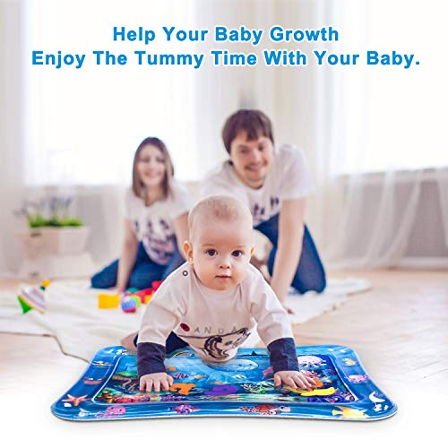 Infinno Inflatable Tummy Time Mat Premium Baby Water Play Mat for Infants and Toddlers Baby Toys for 3 to 24 Months, Strengthen Your Baby's Muscles, Portable