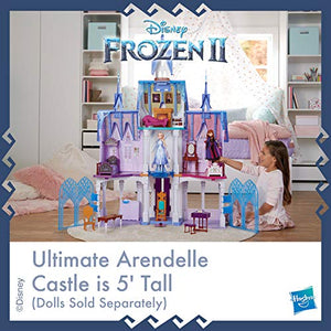Disney Frozen Ultimate Arendelle Castle Playset Inspired by The Frozen 2 Movie, 5'. Tall with Lights, Moving Balcony, & 7 Rooms with Accessories