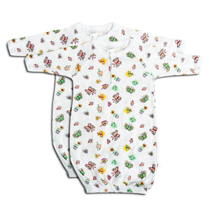 Butterfly Boys Print Infant Gowns - 2 Pack