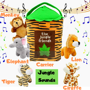 Jungle Friends Talking Plush Animals 1- 7 Year Old
