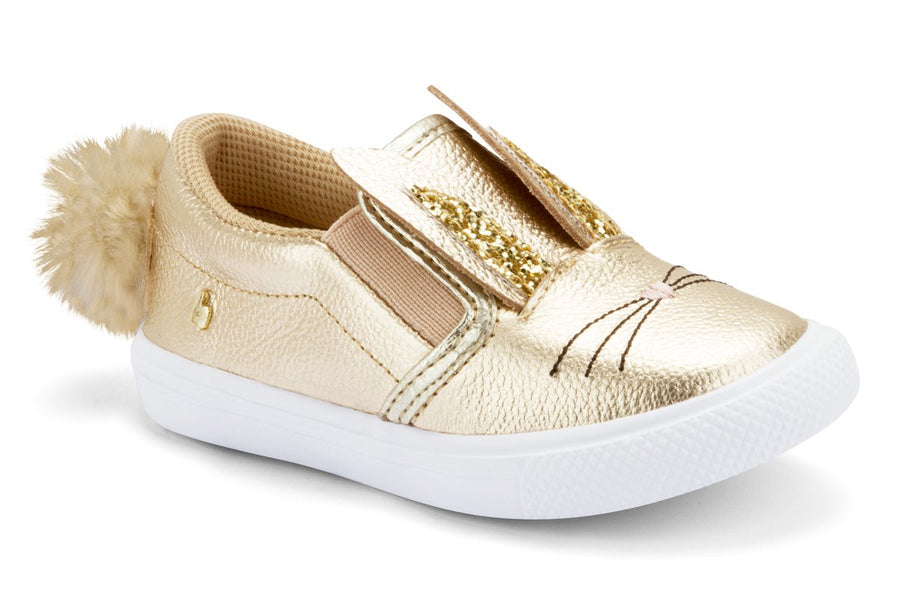 Golden Leather Bunny Shoes