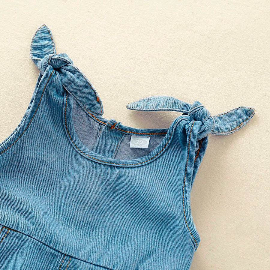 Sleeveless Denim Jumpsuit