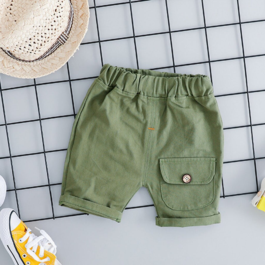 Boys T-Shirt and Cargo Shorts Set