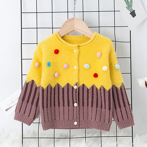 Toddler Knit Crochet Sweater