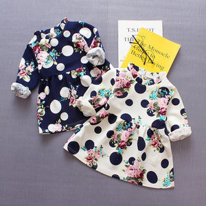 Baby Girl Long Sleeve Dot Floral