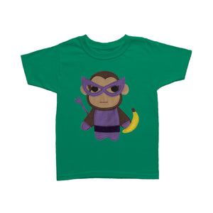 Kids Superhero Shirt - Monkey Banana
